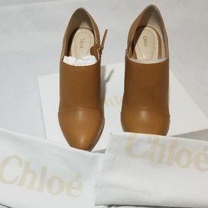 Chloe Leather Booties